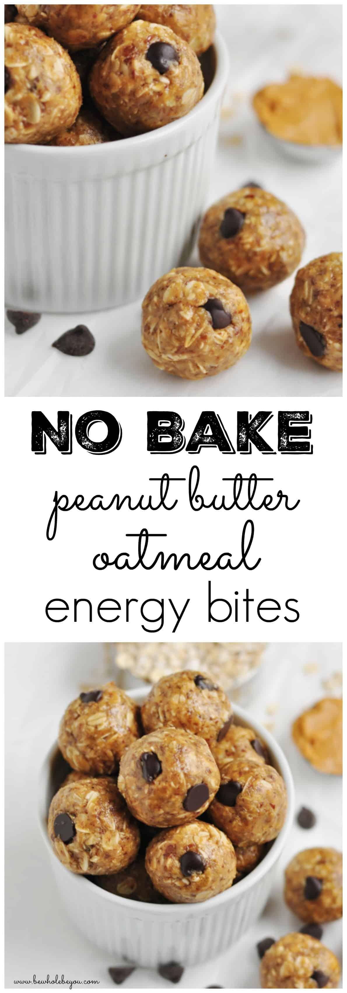 Na Bake Peanut Butter Oatmeal Energy Bites.