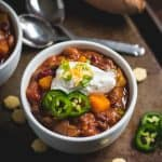 Slow Cooker Sweet Potato Chili in bowl.