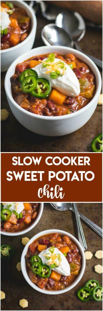 Slow Cooker Sweet Potato Chili.