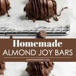 Homemade Almond Joy Bars