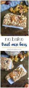 No Bake Trail Mix Bars. Be Whole. Be You.