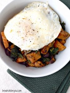 Spinach, Sweet Potato and Black Bean Saute