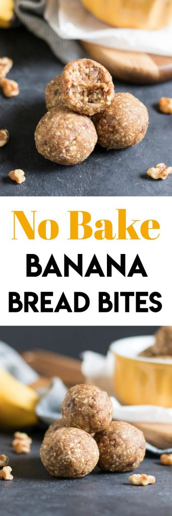 No Bake Banana Bread Bites