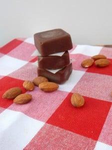 Dark Chocolate Almond Freezer Fudge