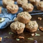 These poppable Flourless Zucchini Mini Muffins are packed with hearty oats, freshly grated zucchini and banana--perfect for snacking or a quick breakfast on the go!