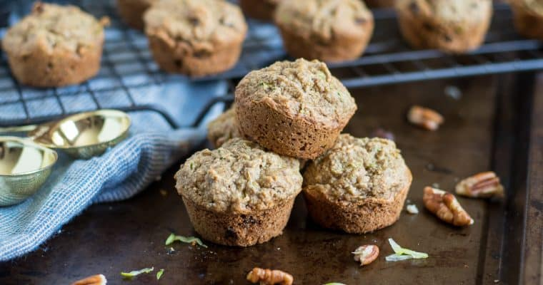 Flourless Zucchini Mini Muffins
