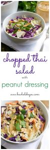 Chopped Thai Salad With Peanut Dressing. Be Whole. Be You.