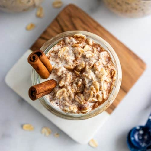 Cinnamon Roll Overnight Oats.