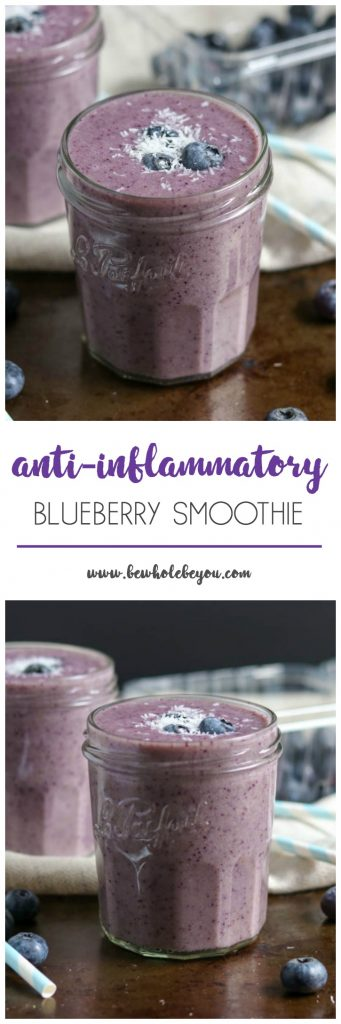 Fight inflammation in the most delicious with this easy anti-inflammatory smoothie recipe. Perfect for breakfast or an afternoon snack full of berries, spinach and more! #smoothie #antiinflammatory #smoothierecipes #inflammation #berrysmoothie