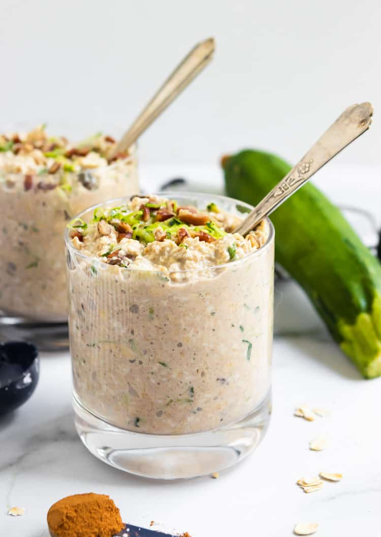 Zucchini Bread Overnight Oats.