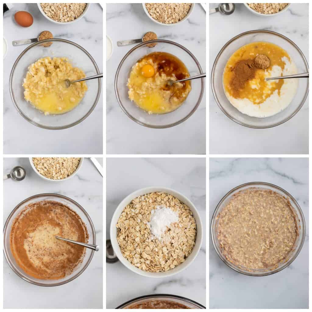 Steps to prep baked oatmeal.