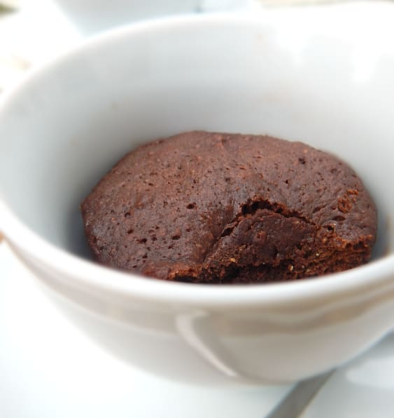 Dark Chocolate Almond Mug Cake