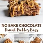 Chocolate Peanut Butter Oatmeal Bars.