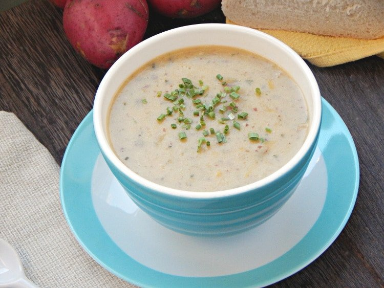 How Can I Be Grateful? {Recipe: Chunky Red Potato Leek Soup}