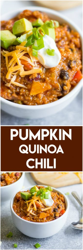 Pumpkin Quinoa Chili.