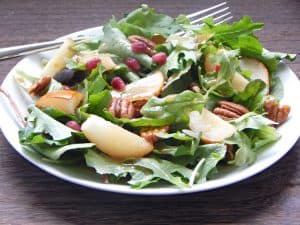 Roasted Pear Salad with White Balsamic Dressing 6