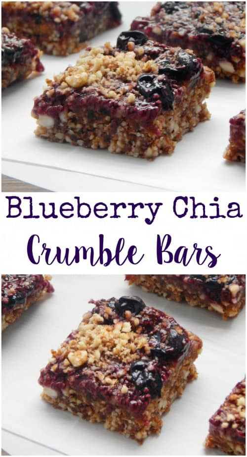 Blueberry Chia Crumble Bars