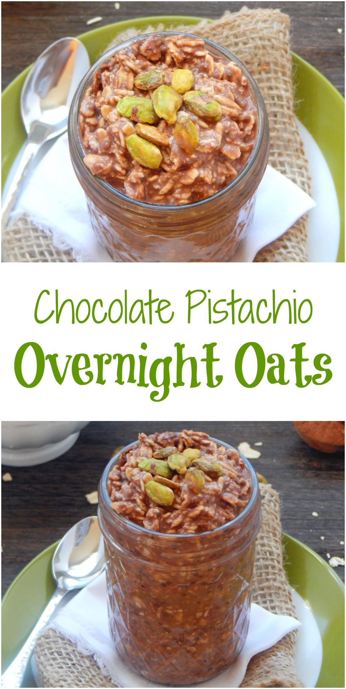 Chocolate Pistachio Overnight Oats