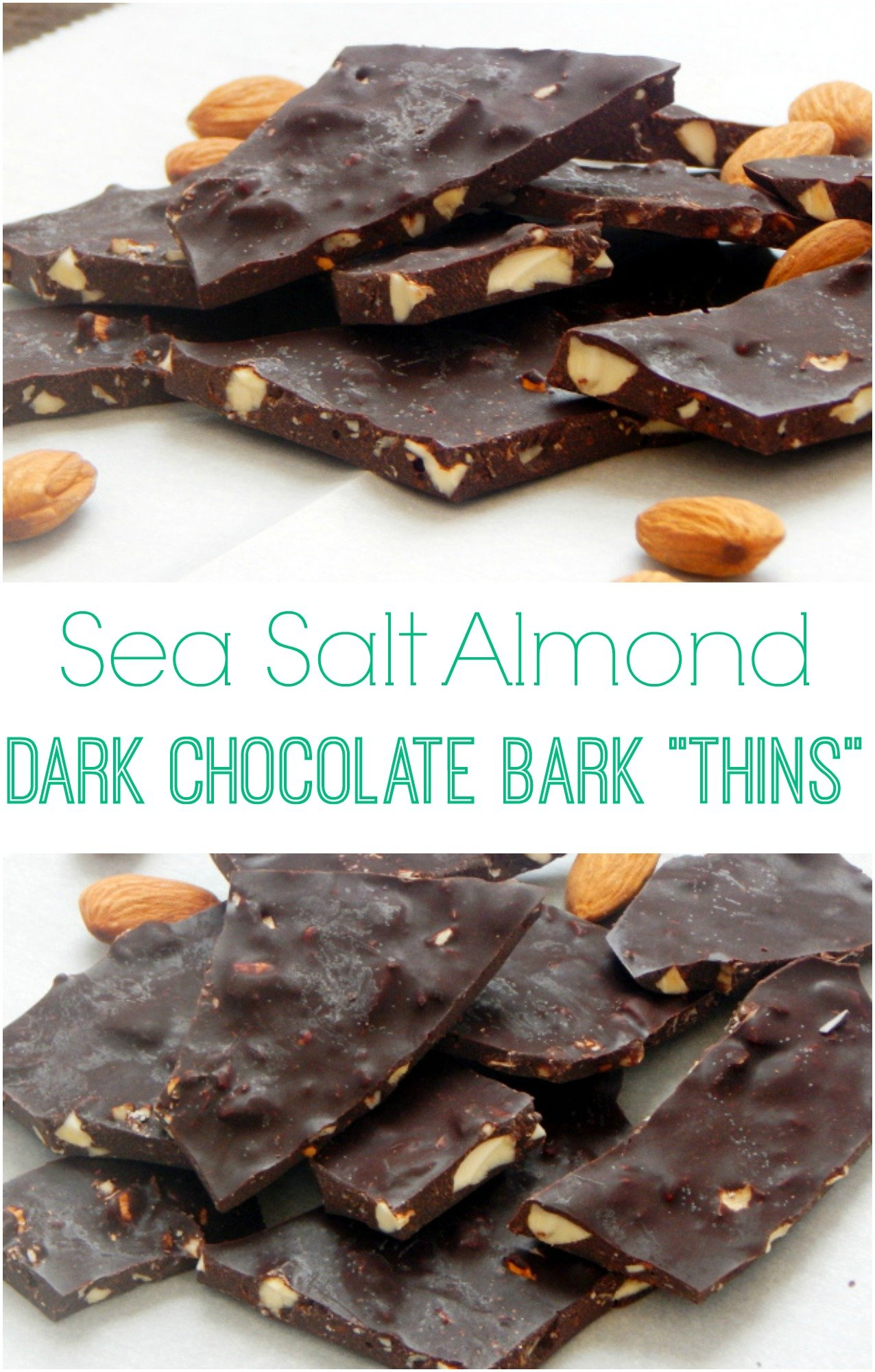 Sea Salt Almond Dark Chocolate Bark Thins