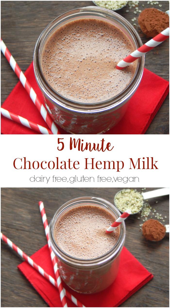 5 Minute Chocolate Hemp Milk
