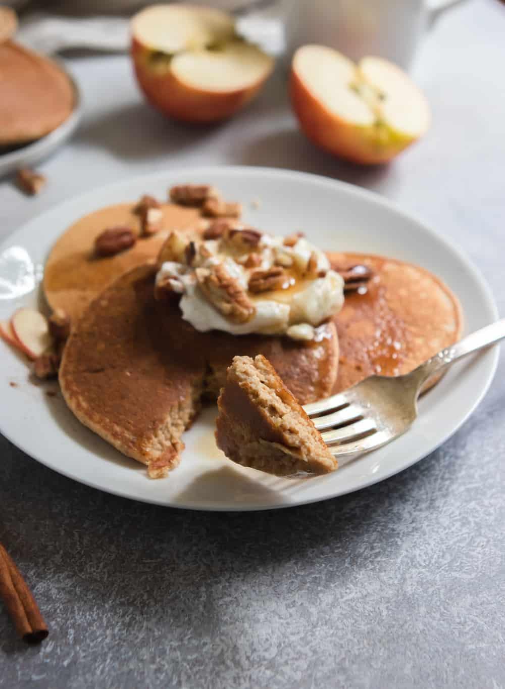 Apple Oatmeal Pancakes.