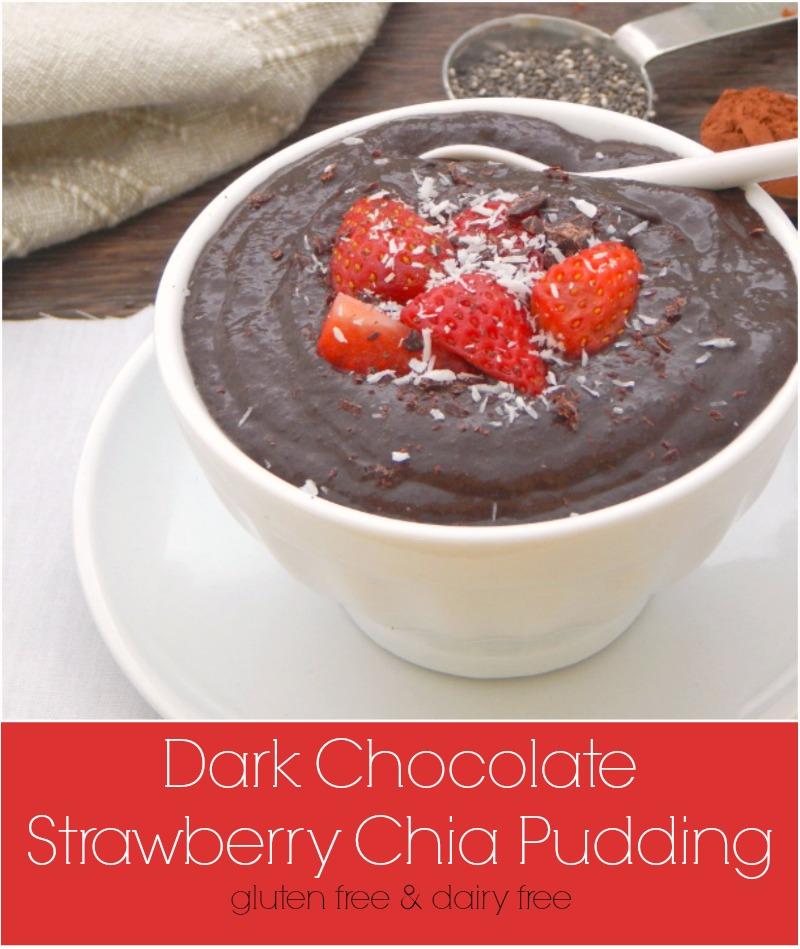 Dark Chocolate Strawberry Chia Pudding