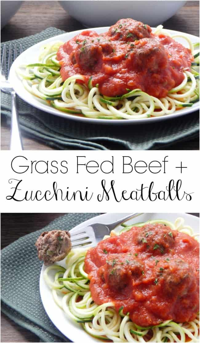 Grass Fed Beef and Zucchini Meatballs