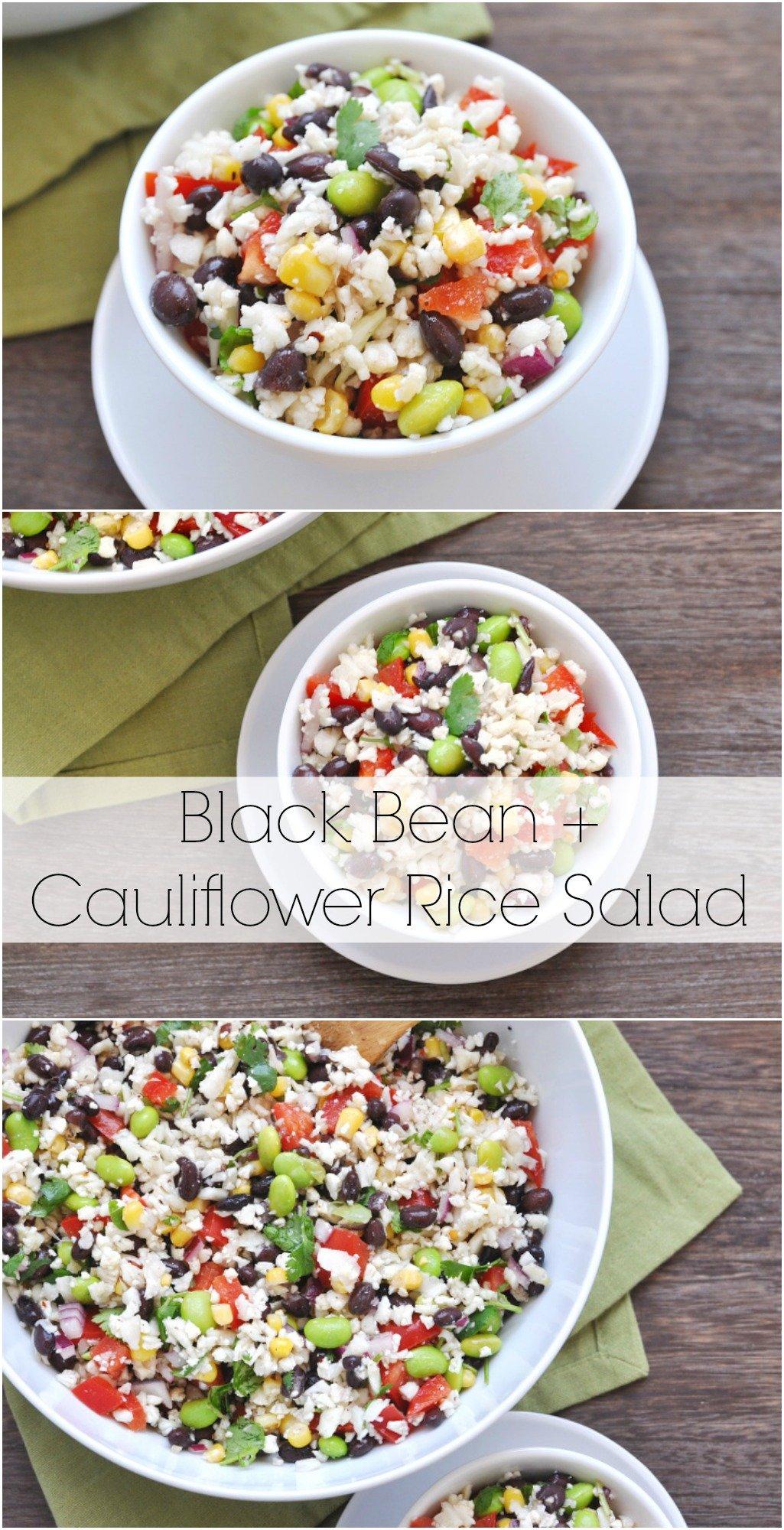 Black Bean and Cauliflower Rice Salad