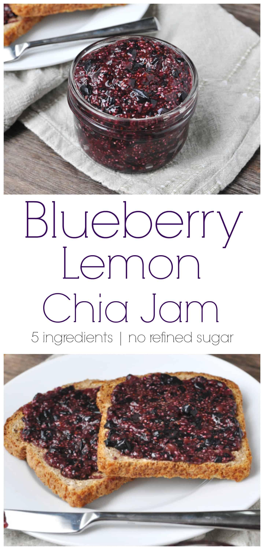 Blueberry Lemon Chia Jam. Be Whole. Be You.