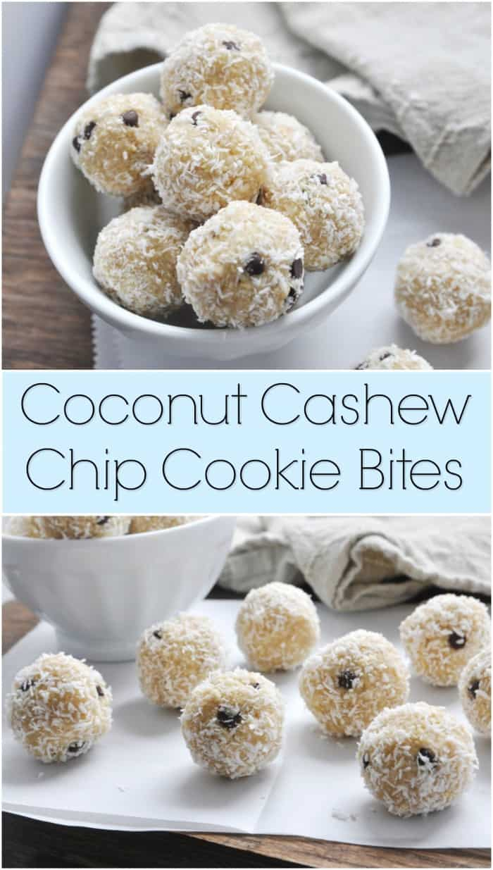 Coconut Cashew Chip Cookie Bites