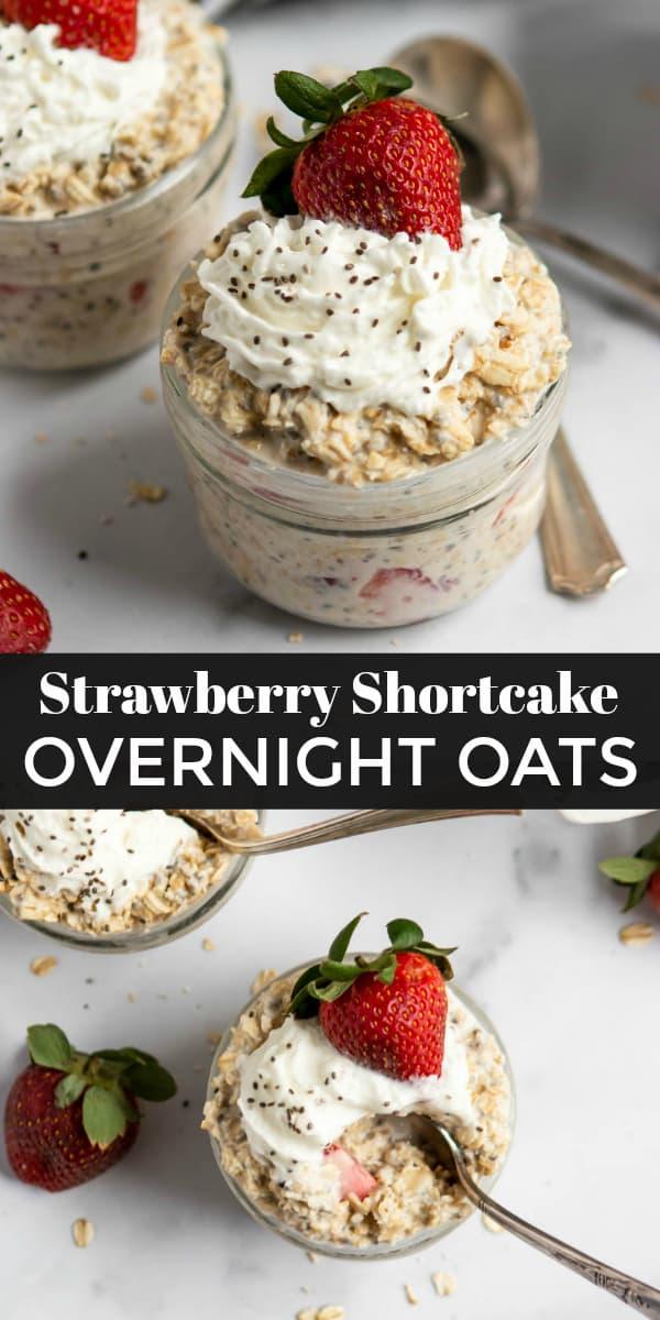 Strawberry Shortcake Overnight Oats