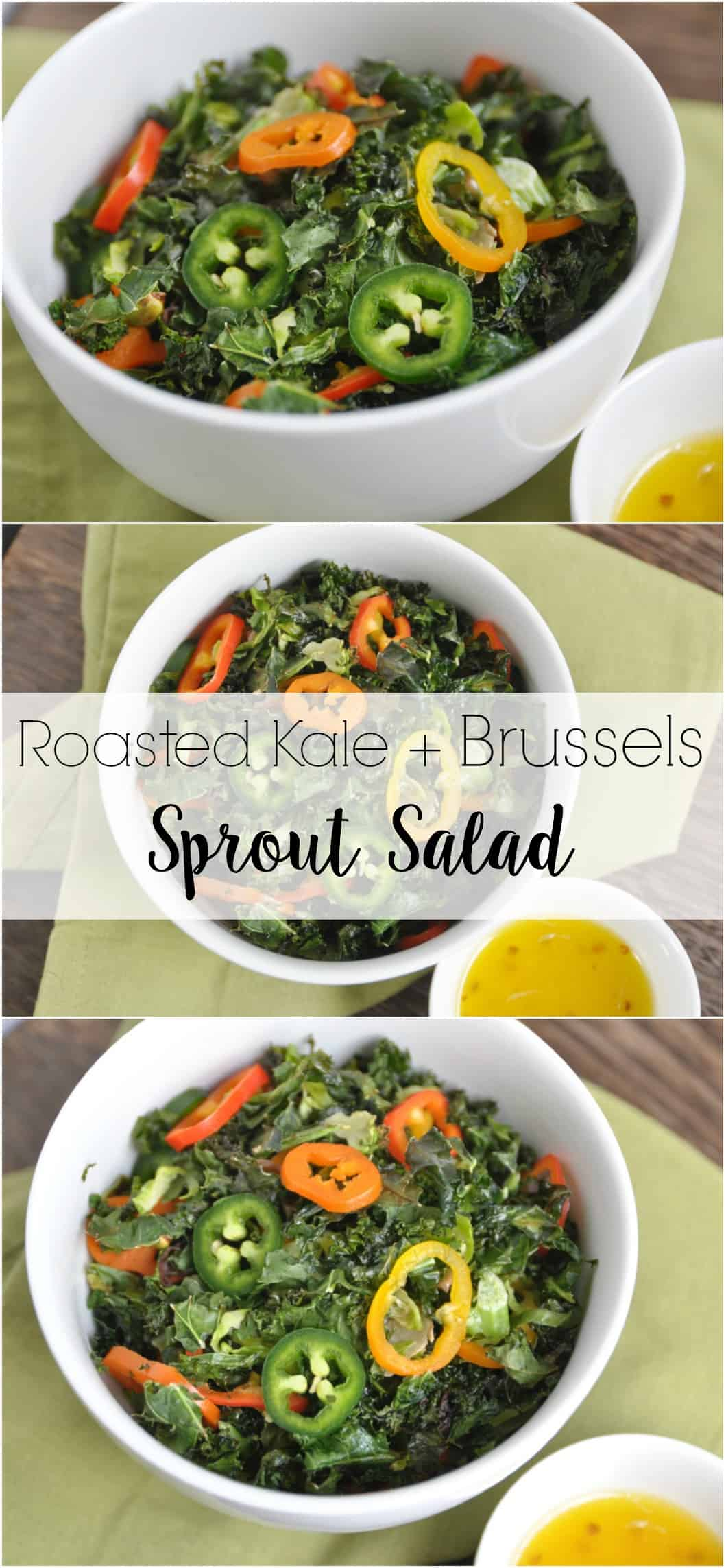 Roasted Kale and Brussels Sprout Salad