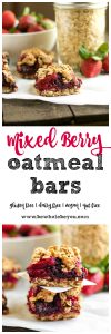 Mixed Berry Oatmeal Bars. Be Whole. Be You.