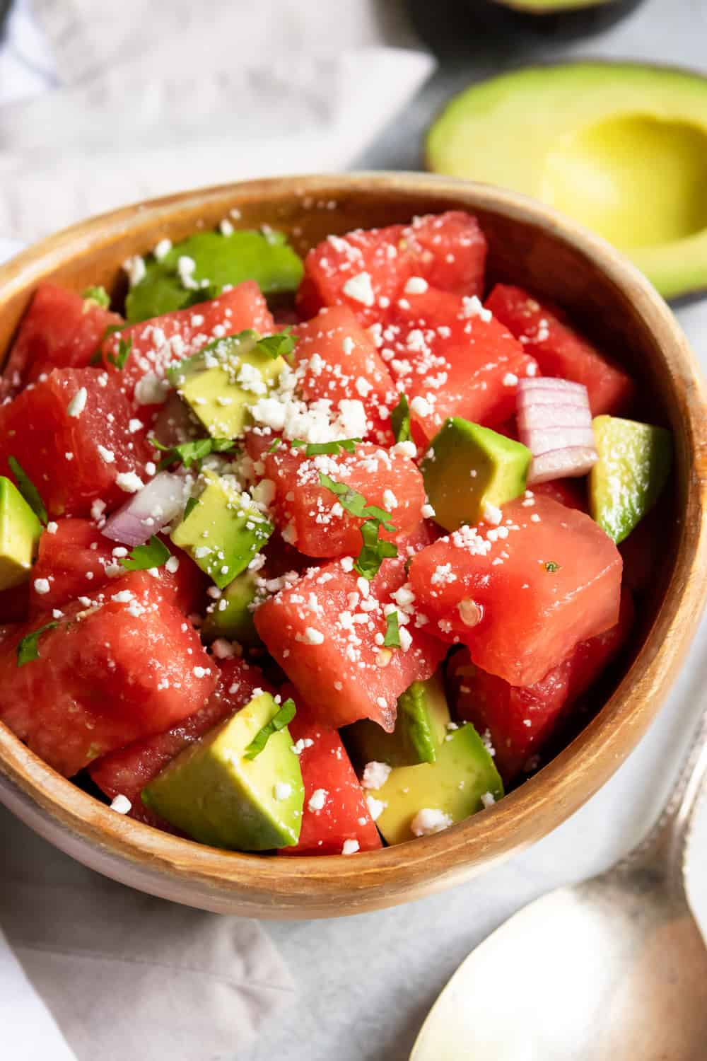 Watermelon Avocado Salad with Feta
