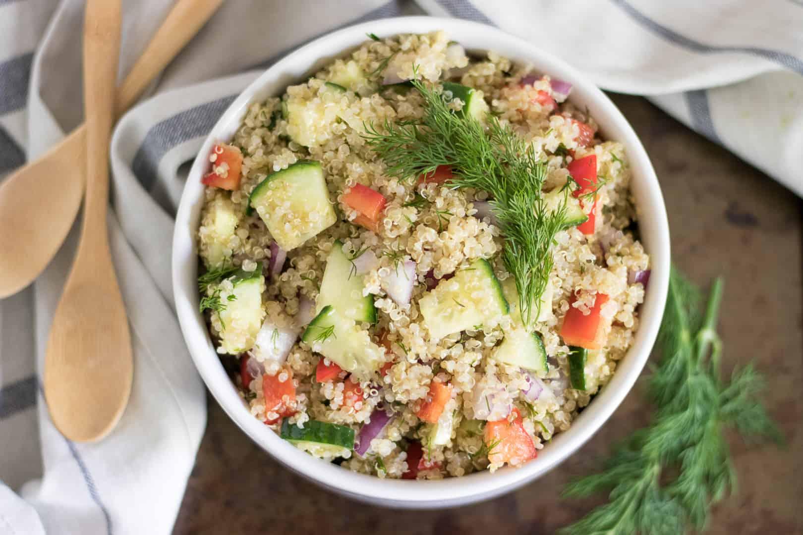 Cucumber Dill Quinoa Salad.