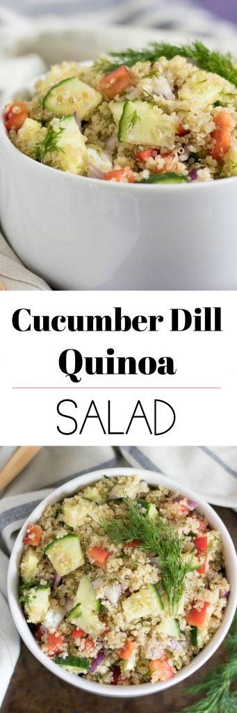 Cucumber Dill Quinoa Salad