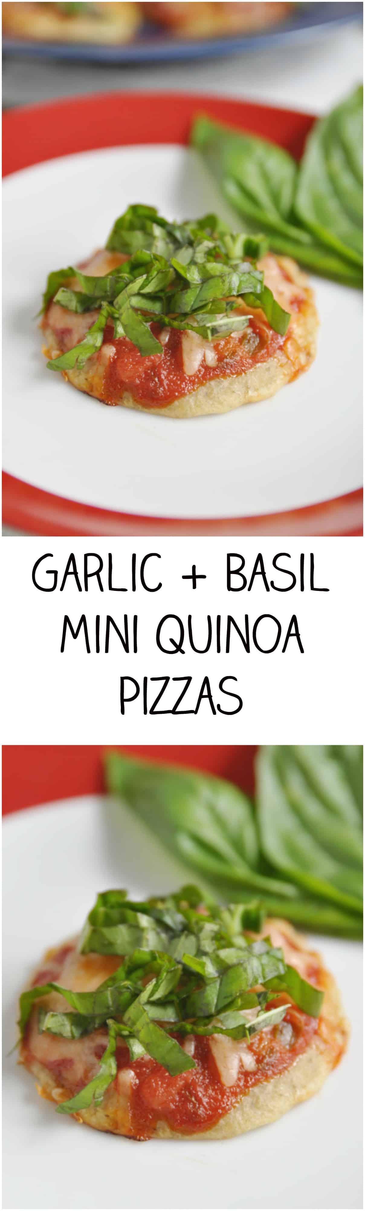Garlic + Basil Mini Quinoa Pizzas