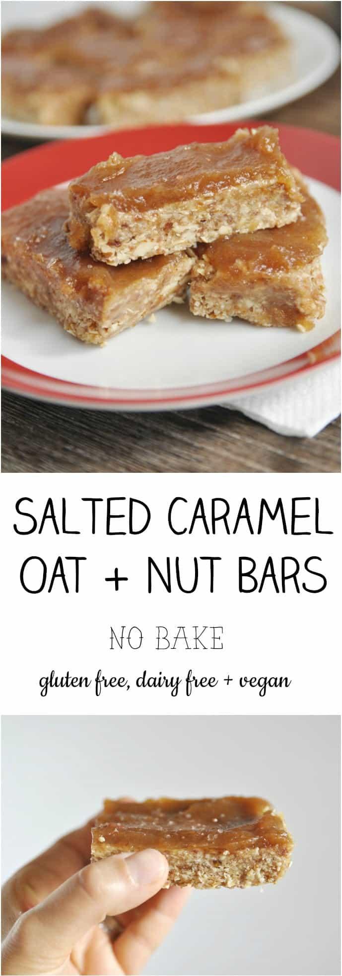 Salted Caramel Oat Nut Bars