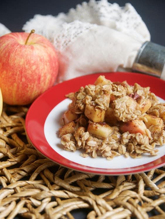 Baked Oatmeal + Apple Crumble