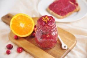 Cranberry Orange Chia Jam