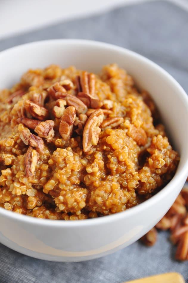Pumpkin Pie Breakfast Quinoa