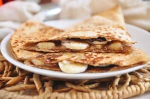 Almond Butter Banana Breakfast Quesadilla