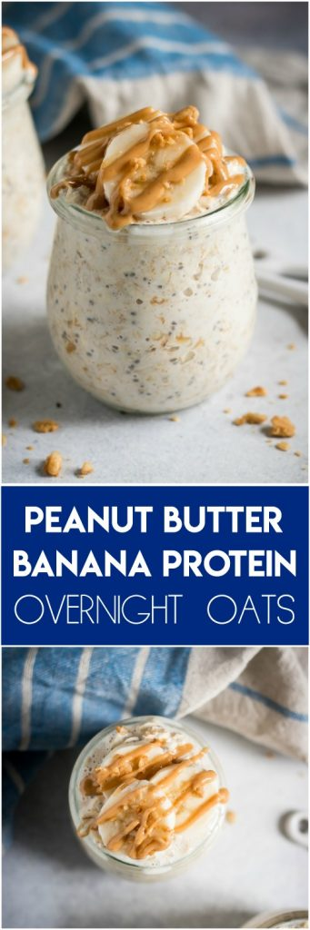 Peanut Butter Banana Protein Overnight Oats