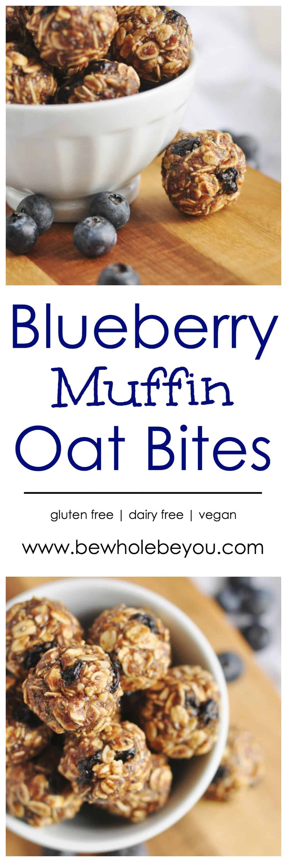 Blueberry Muffin Oat Bites. Be Whole. Be You.
