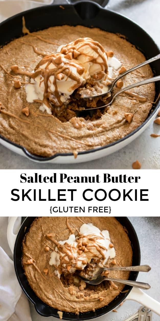 Salted Peanut Butter Skillet Cookie Gluten Free