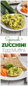 Spinach + Zucchini Egg Muffins. Be Whole. Be You.