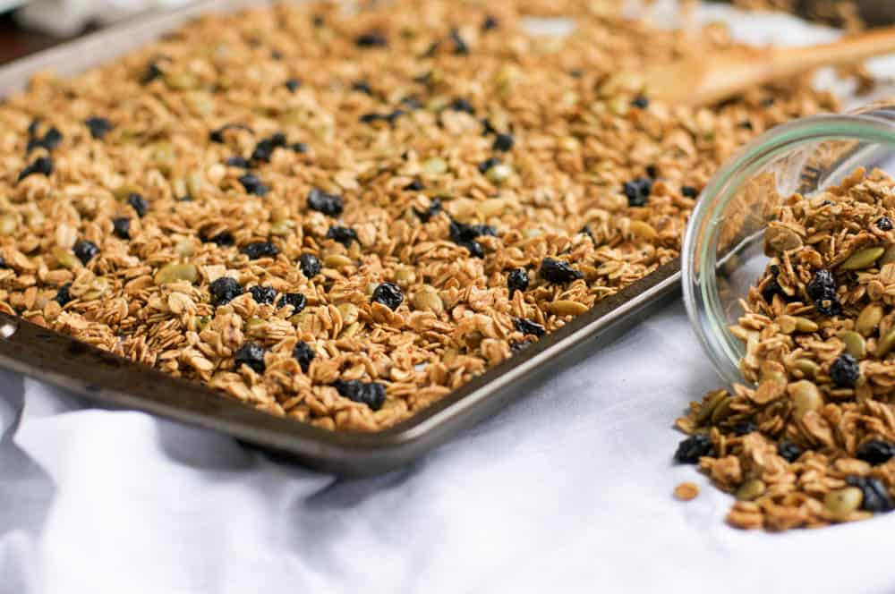 Nut Free Blueberry Granola.