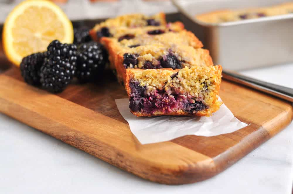 Lemon Berry Mini Corn Loaves
