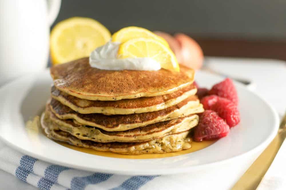 Gluten Free Lemon Poppy Seed Pancakes