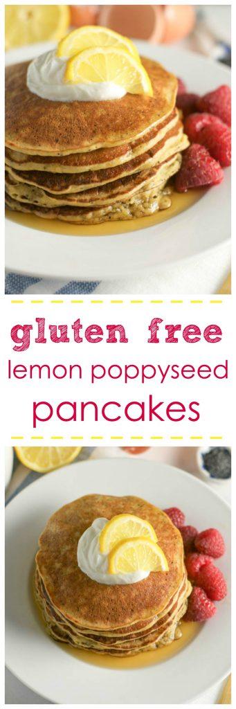 Gluten Free Lemon Poppy Seed Pancakes.